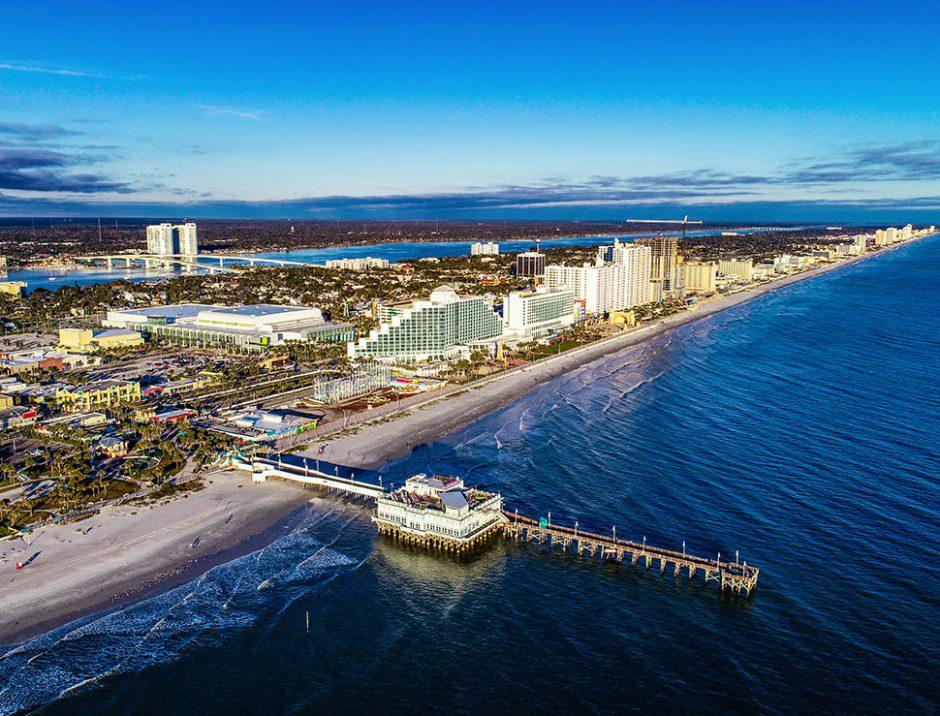 Aerial View of Daytona Beach, Florida FL