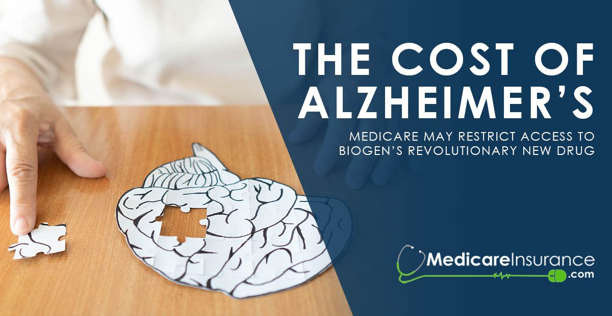 The Cost of Alzheimer's text over image of a paper brain cutout with puzzle piece missing