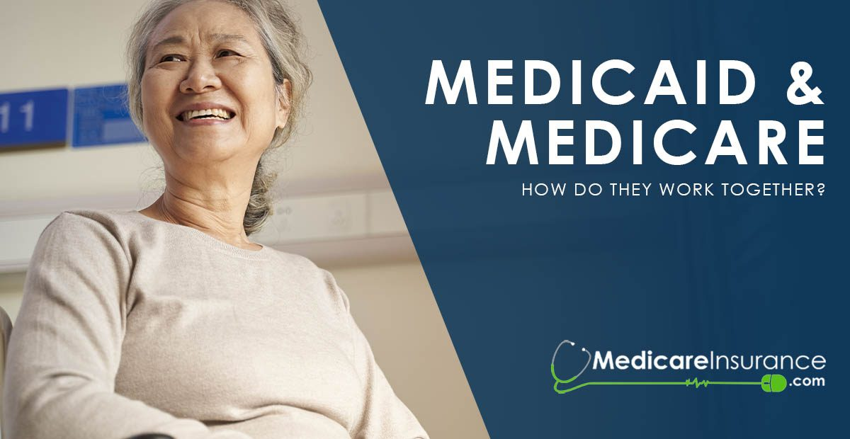 Medicaid and Medicare text over image of woman in wheelchair