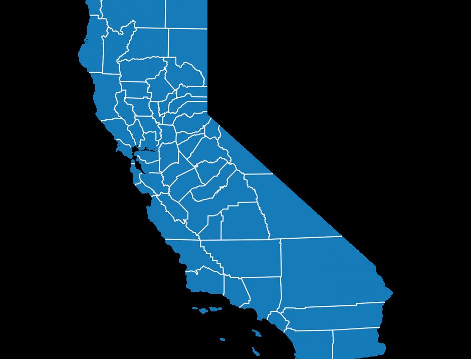 Illustrative map of California